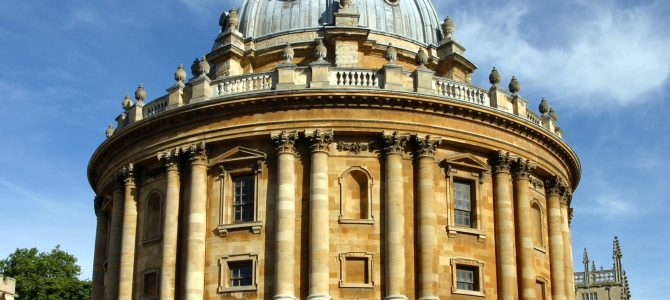 Universitätsstadt Oxford bei Sonnenschein