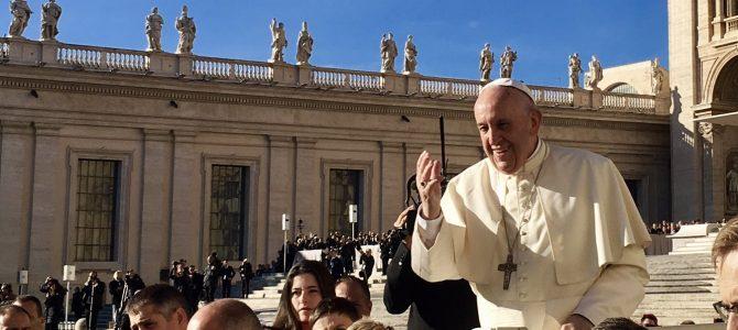Beim Papst in der ersten Reihe!