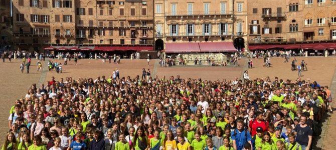 Siena mit Gruppenfoto